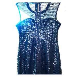 Glam Express black sequin body con but classy